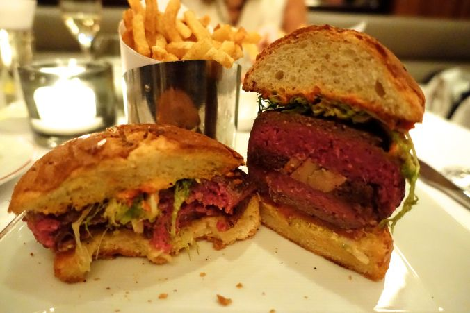 db Bistro moderne burger- the biggest, baddest burger in NYC