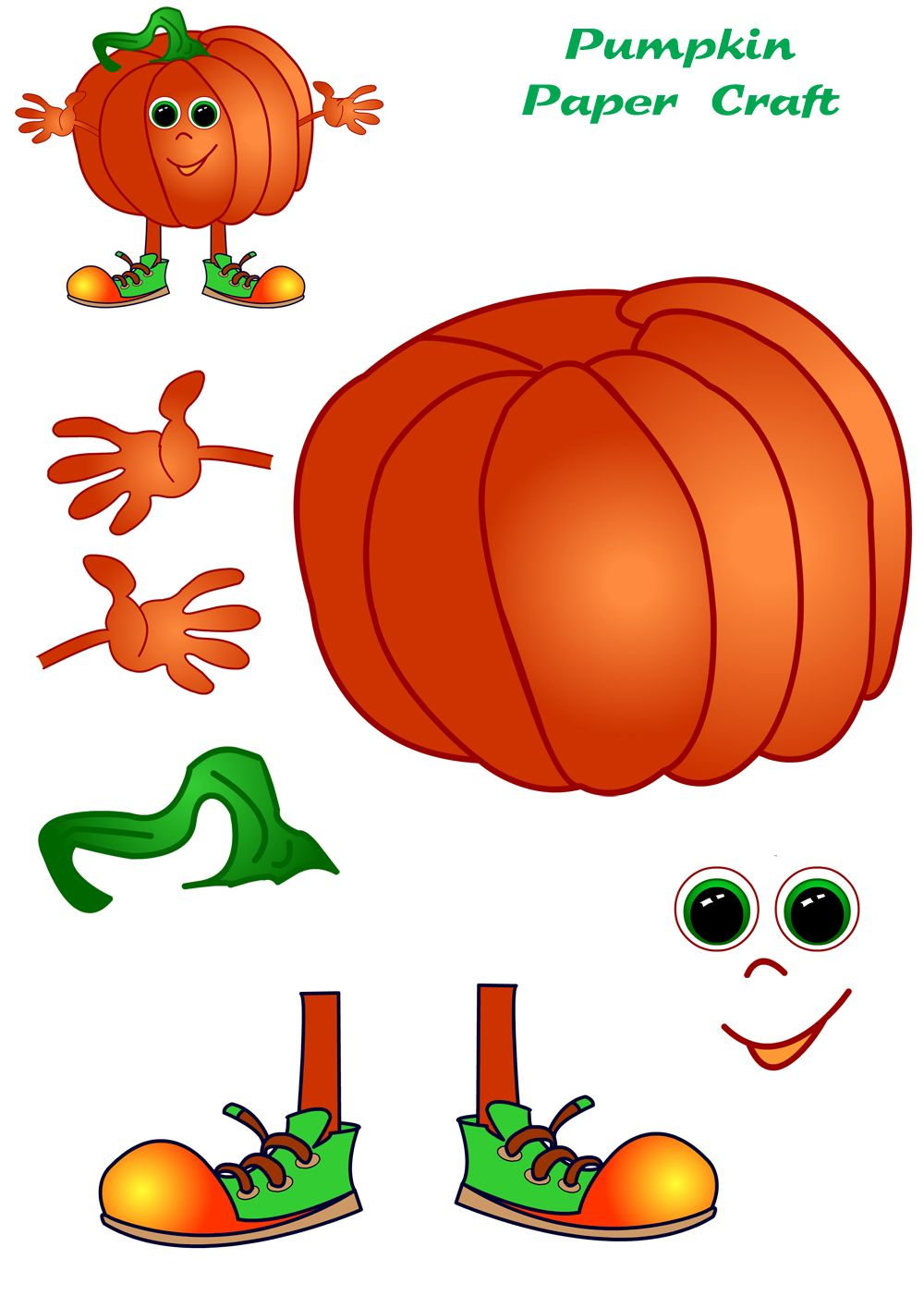 Pumpkin Paper Craft | Halloween | Pinterest