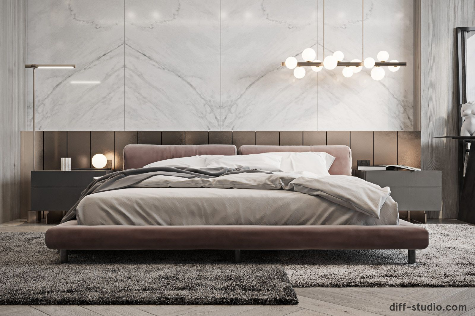 Contemporary House In Paris Master Bedroom On Behance Luxury