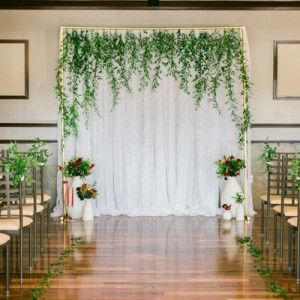 Nature Theme Wedding Bring Plant Life Inside