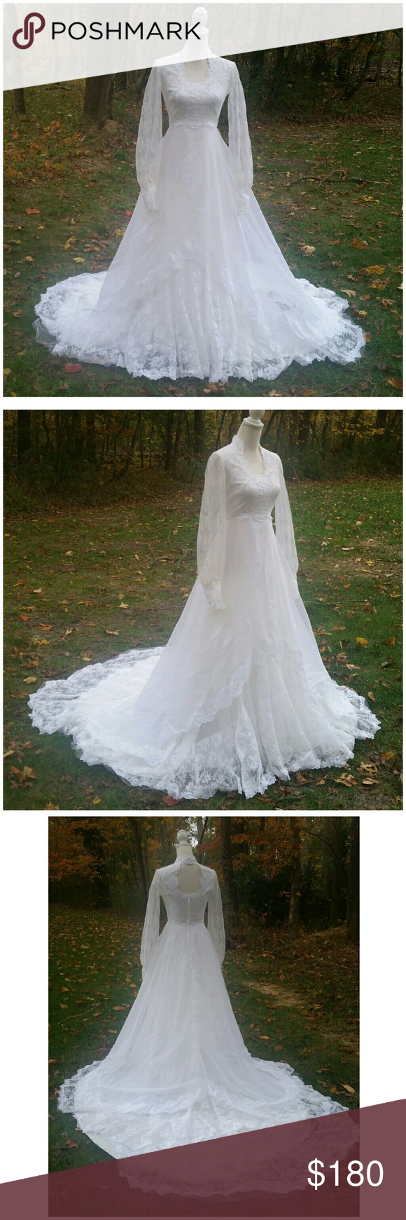 Vintage boho wedding lace dress vintage victorian boho lace wedding