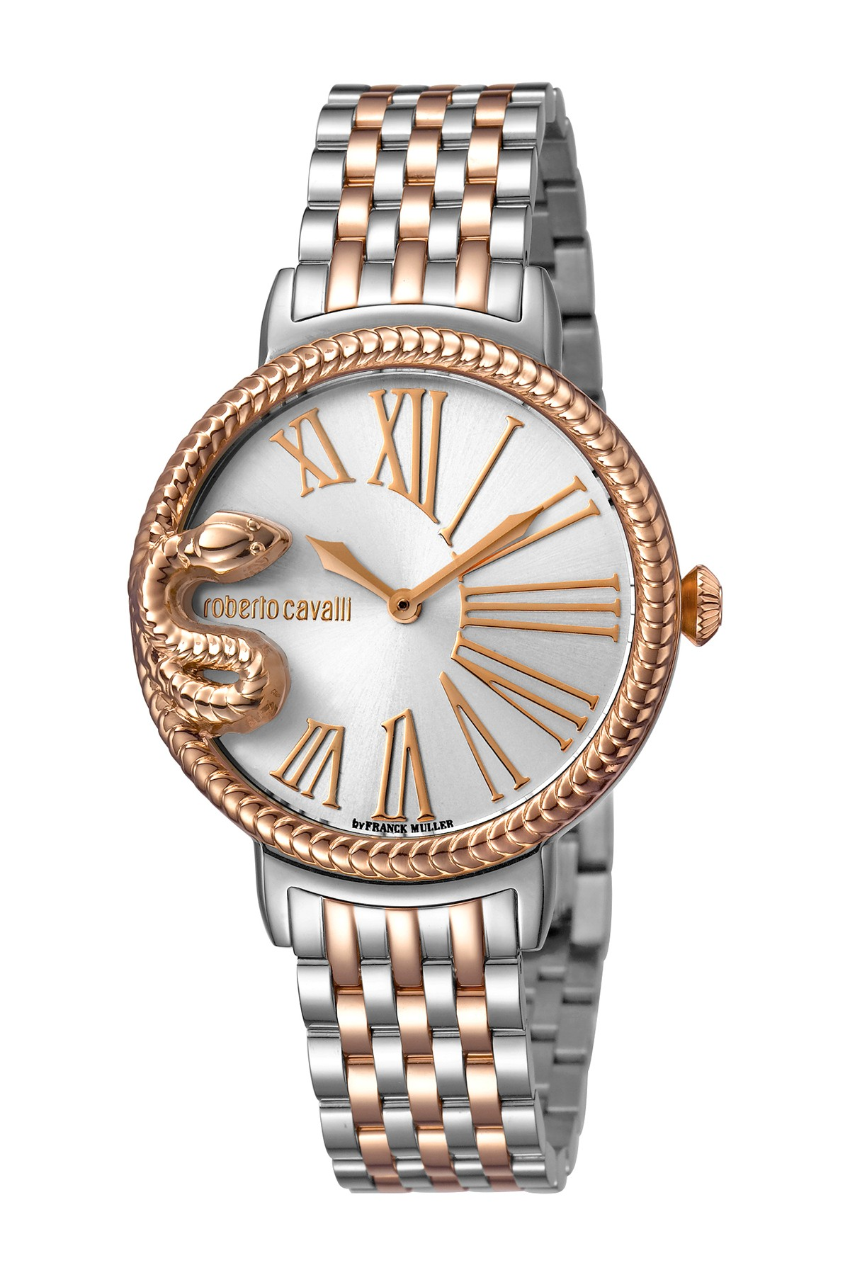 83d83631d8 ROBERTO CAVALLI BY FRANCK MULLER Women s Snake Two-Tone Bracelet Watch