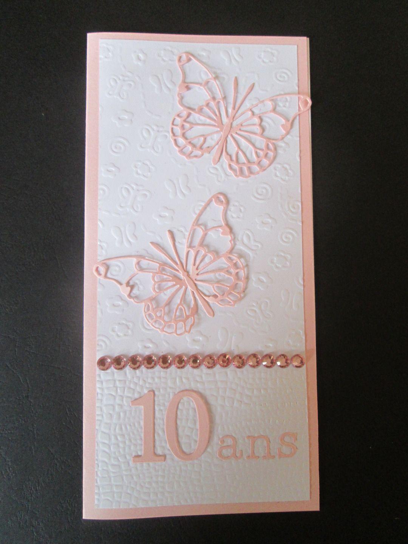 Carte D Anniversaire 10 Ans Pour Petite Fille Cartes Par Les Petits Papiers De Marie Carte Anniversaire Carte Anniversaire Scrap Carte Anniversaire Enfant