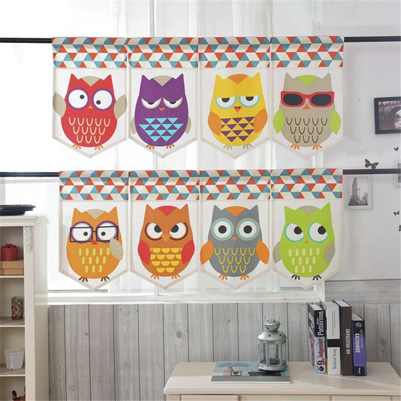 How To Customize Owl Kitchen Curtains In 2020 With Images Owl Kitchen Kitchen Curtains Half Curtains
