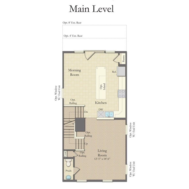 Camden Ii Home Plan By Dan Ryan Builders In The Towns At Glenn Dale Crossing House Plans Floor Plans Outdoor Grill Area
