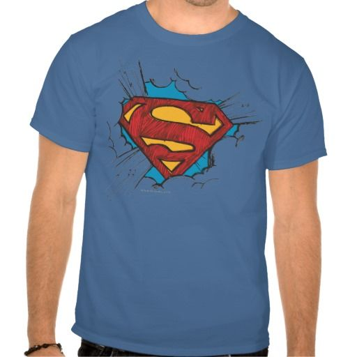 Superman S Shield   Within Clouds Logo T Shirt  