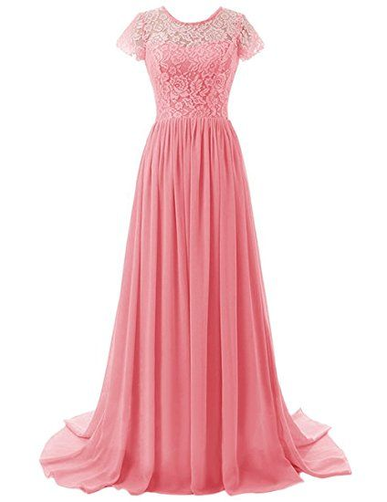 Beonddress damen lange brautjungfer kleid chiffon for Festliche kleider koralle