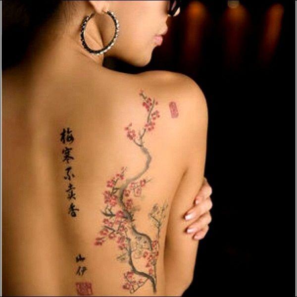 50 Meaningful Chinese Symbol Tattoos And Designs Cherry Tattoos Tattoos Sakura Tattoo