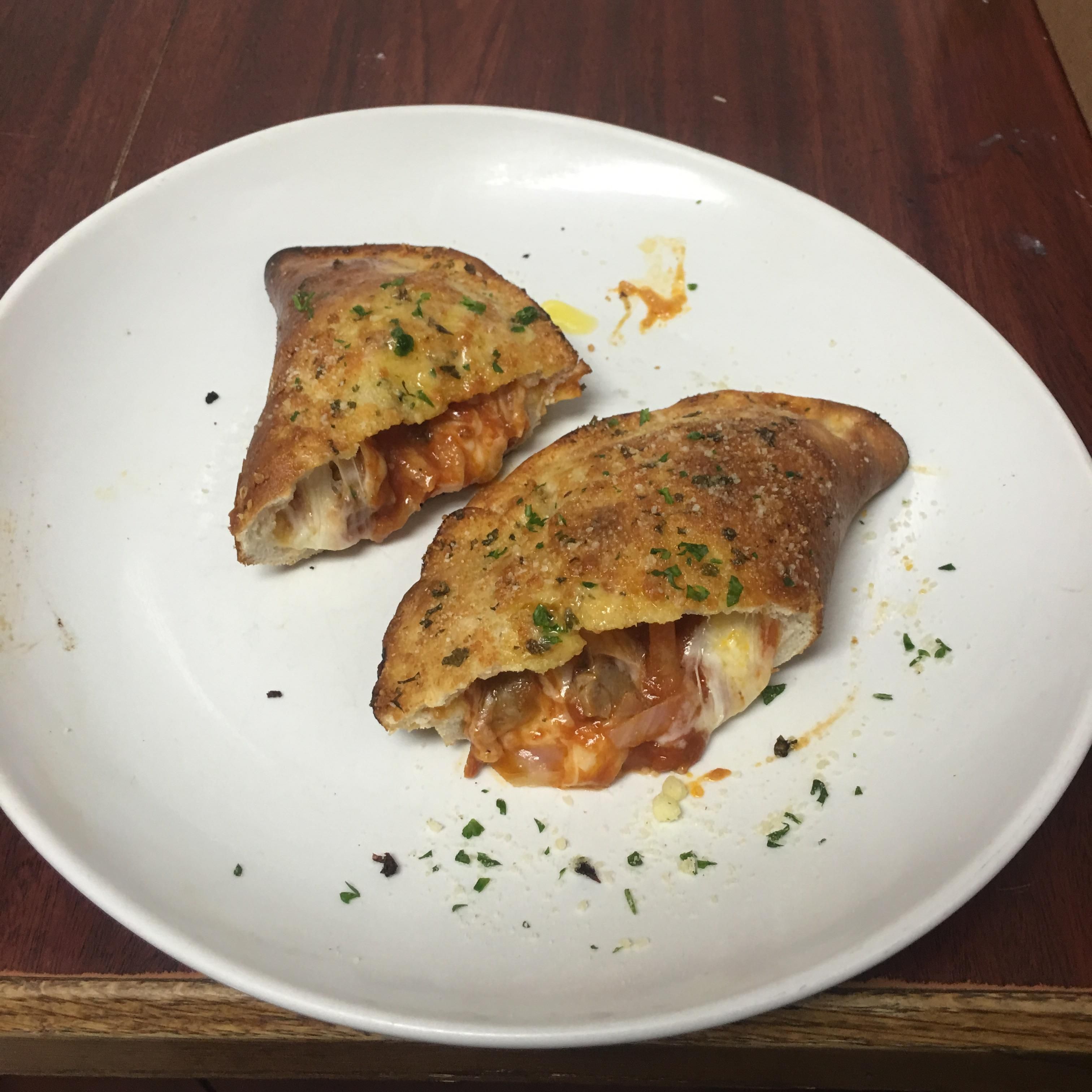 I ate] a Kid\'s Pizza turned into a Calzone from Olive Garden   My ...