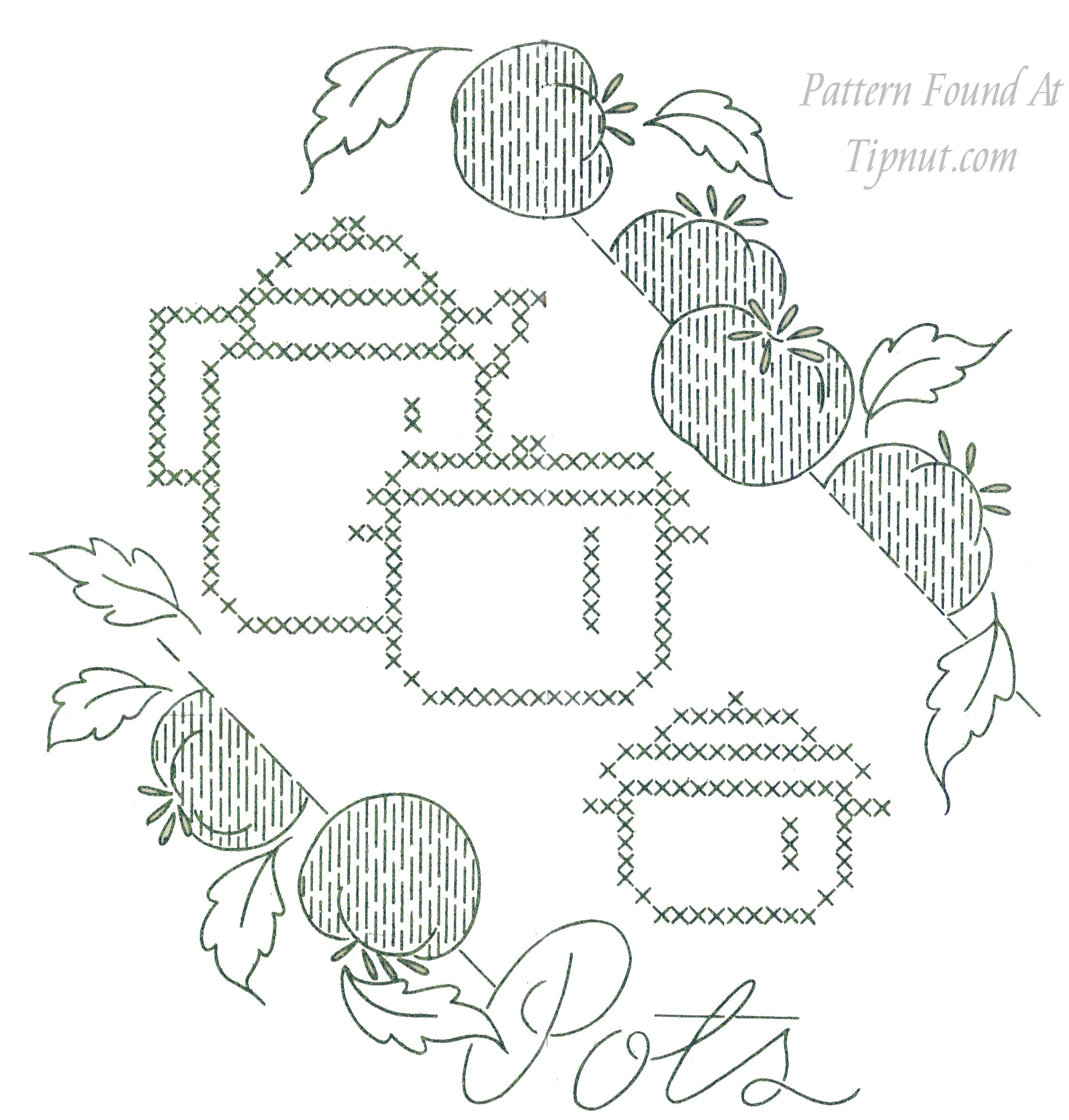 tomatoes-pots.jpg (2205×2308) | Embroidery Cooking | Pinterest ...