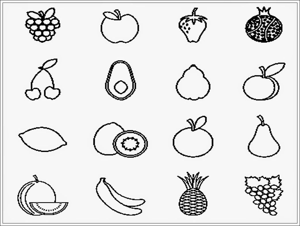 Sketsa gambar buah untuk diwarnai mewarnai Pinterest