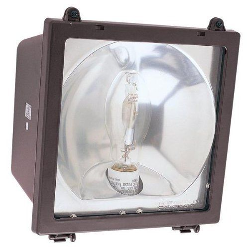 "1 Light Flood Light by Sea Gull Lighting. $208.00. 86070B-10 Features: -Flood light.-Number of lights: 1.-Extension: 7"".-Center of backplate outlet box up: 4.5"".-Center of backplate outlet box up: 4.5"". Includes: -Includes hinged door to make relamping easier.-Bulb type: 70W Medium base bulb (included). Color/Finish: -Bronze finish. Dimensions: -Overall dimensions: 12.5"" H x 9.13"" W."