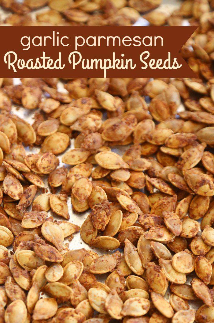 Garlic Parmesan Roasted Pumpkin Seeds - Mom Endeavors