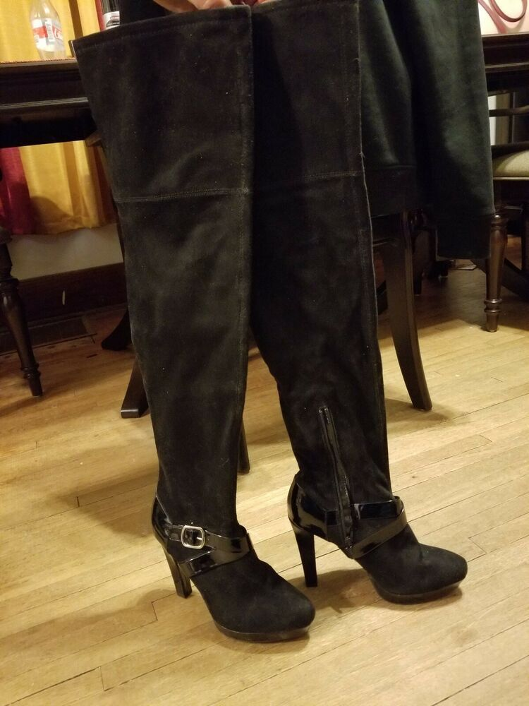 a5b2338671d0 Over the knee High heeled boots size 8 stilettos club wear  fashion   clothing  shoes  accessories  womensshoes  boots (ebay link)