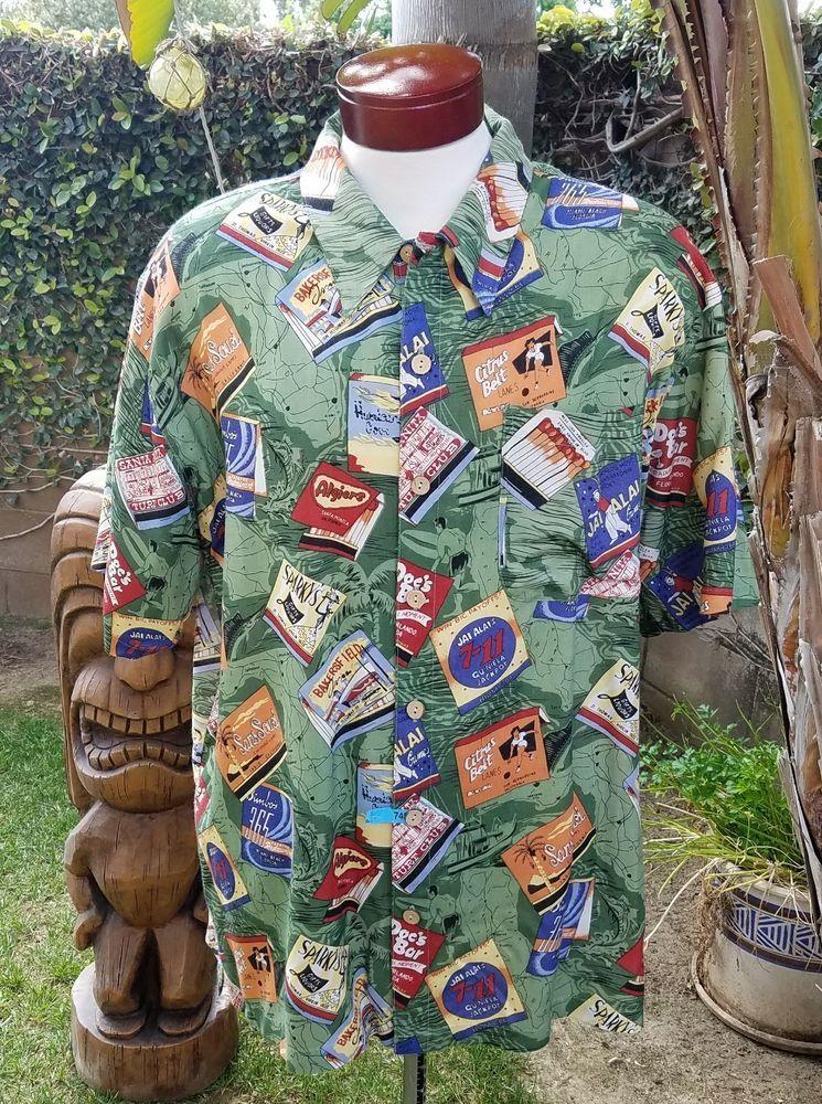 230182d1d Vintage 50's Matchbooks Theme K.A.D.Clothing Co Buttondown Hawaiian Camp  Shirt L   Clothing, Shoes & Accessories, Men's Clothing, Casual Shirts    eBay!