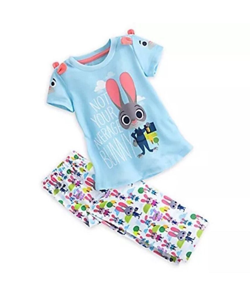 d8dd44d7ab01 DISNEY STORE ZOOTOPIA JUDY HOPPS PAJAMAS PJ SET FOR GIRLS ~ SIZE 9 ...
