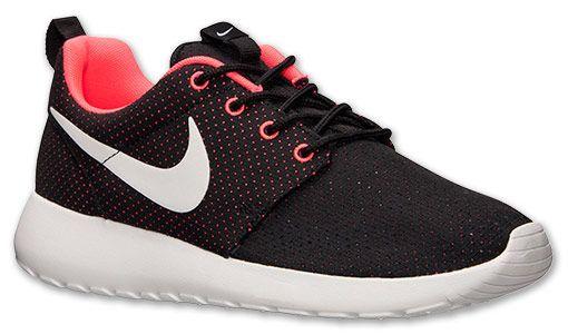 Femmes Nike Roshe Courir Noir Et Rose