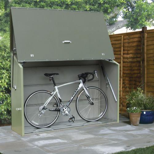 Abri de jardin Abri à Vélo Métallique Sésame Vert Abri à Vélo ...