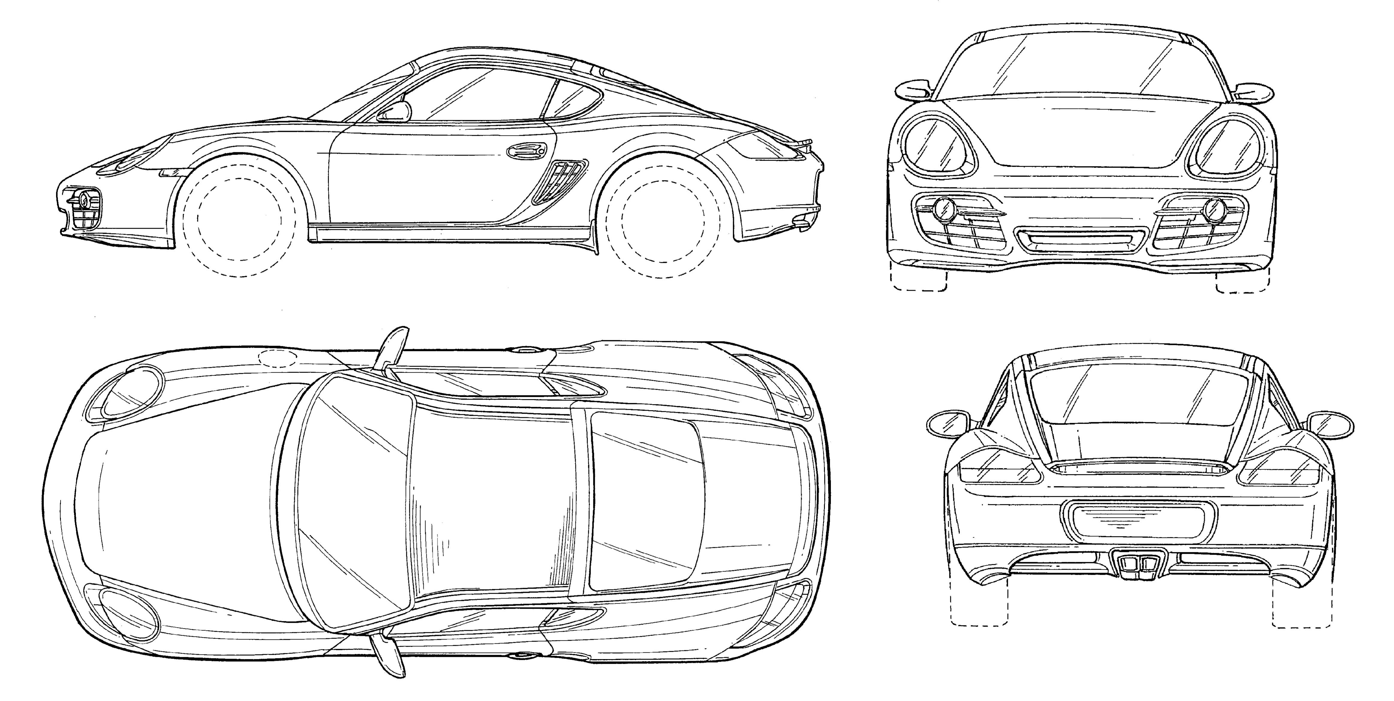 Porsche cayman blueprint cars pinterest cars porsche cayman blueprint malvernweather Choice Image