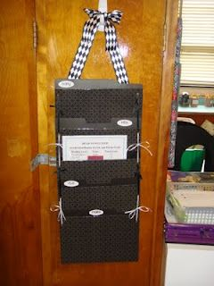 File folder system for copies, weekly lessons, handouts.  Love it!  Make it!