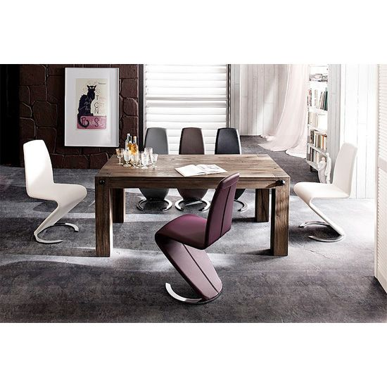Leeds Solid Wood 6 Seater Dining Table With Swing Chairs