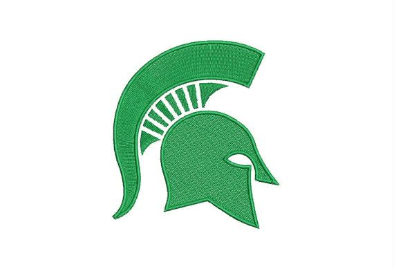 Michigan State Spartan Logo Machine Embroidery by moreusemb