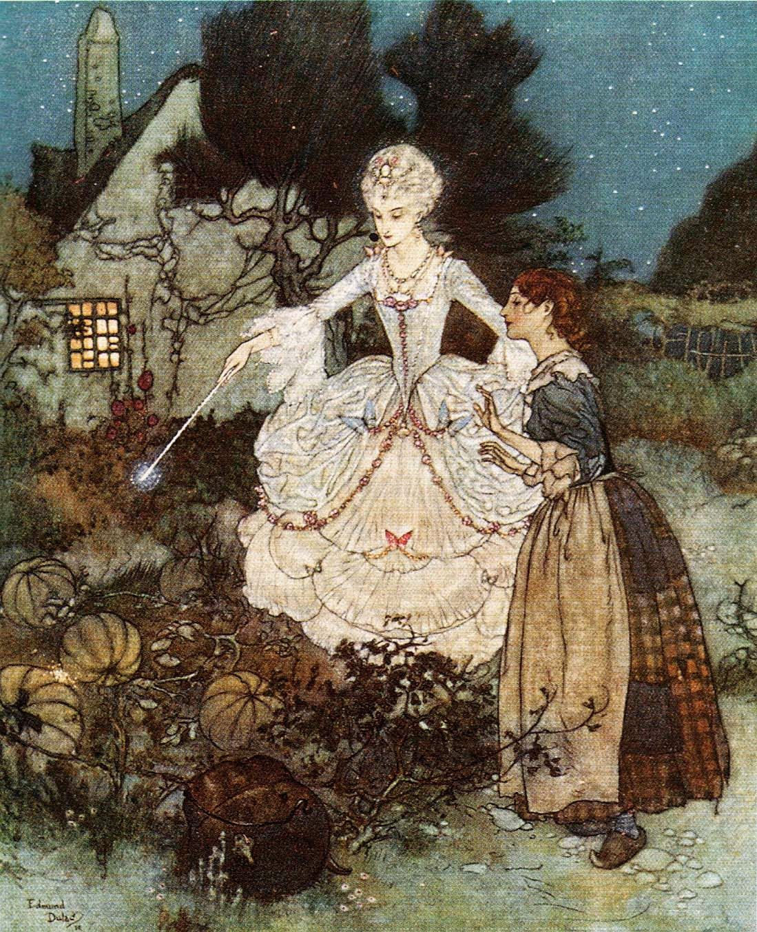 Cinderella - Edmund Dulac (illustrations for Perrault's Fairy Tales, 1912)