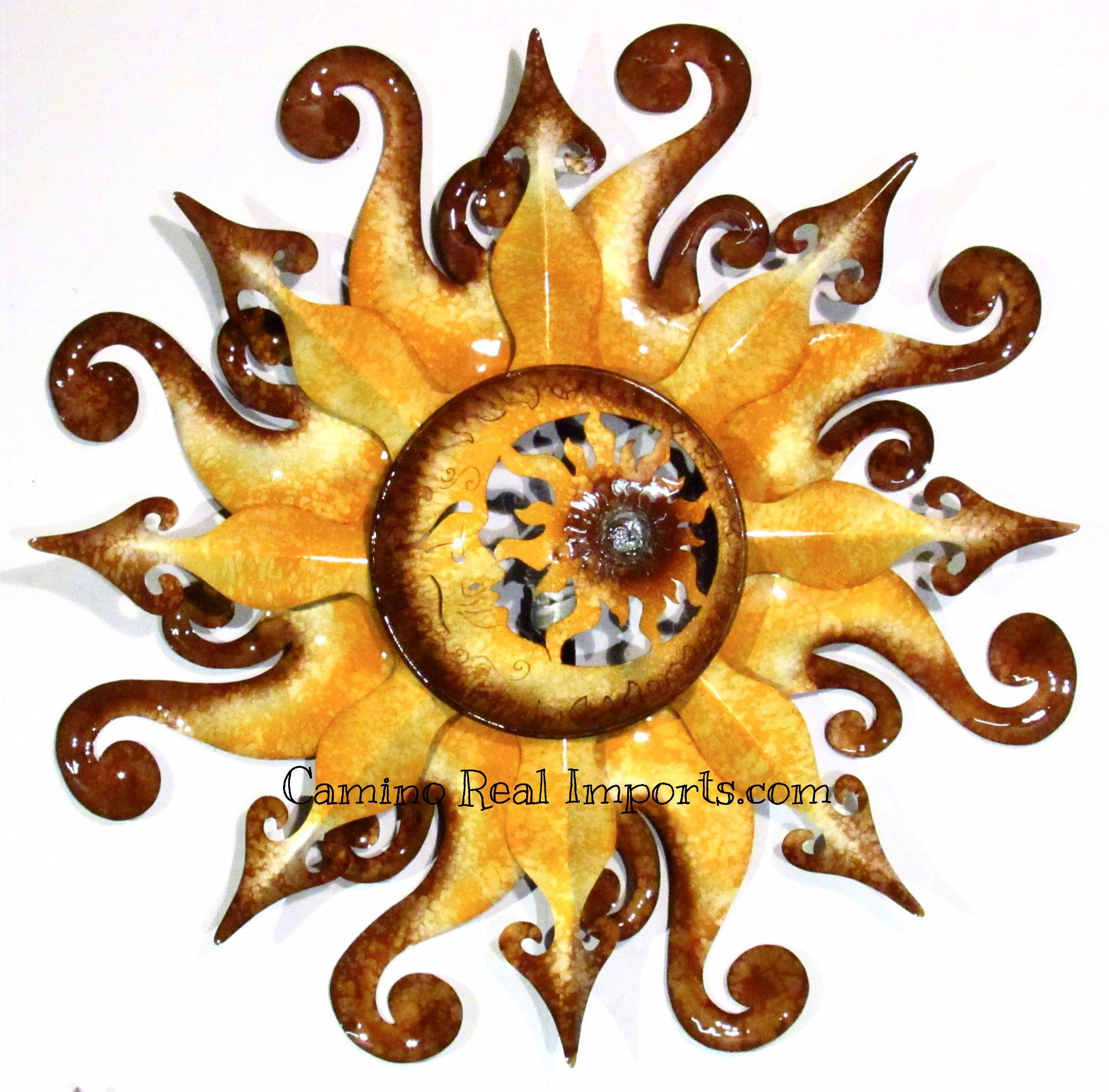Metal Light-up Sun Wall Decor 37\