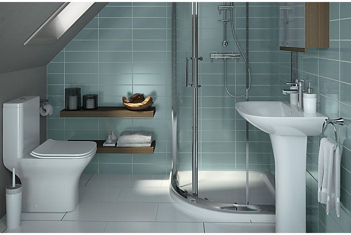 Lanzo Bathroom Suites Bathroom Rooms Diy At B Q Loft Bathroom Bathroom Design 2017 Loft Bathroom Complete Bathrooms