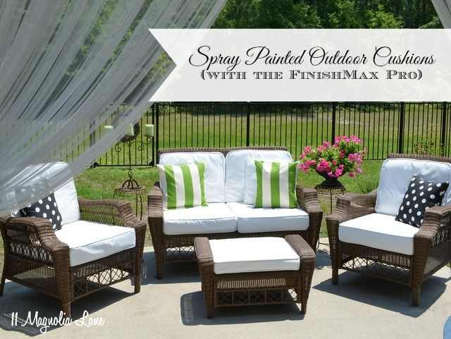 Painted Fabric Outdoor Cushions Using A Paint Sprayer, Outdoor Furniture,  Outdoor Living, Painted Furniture, Reupholster Part 77