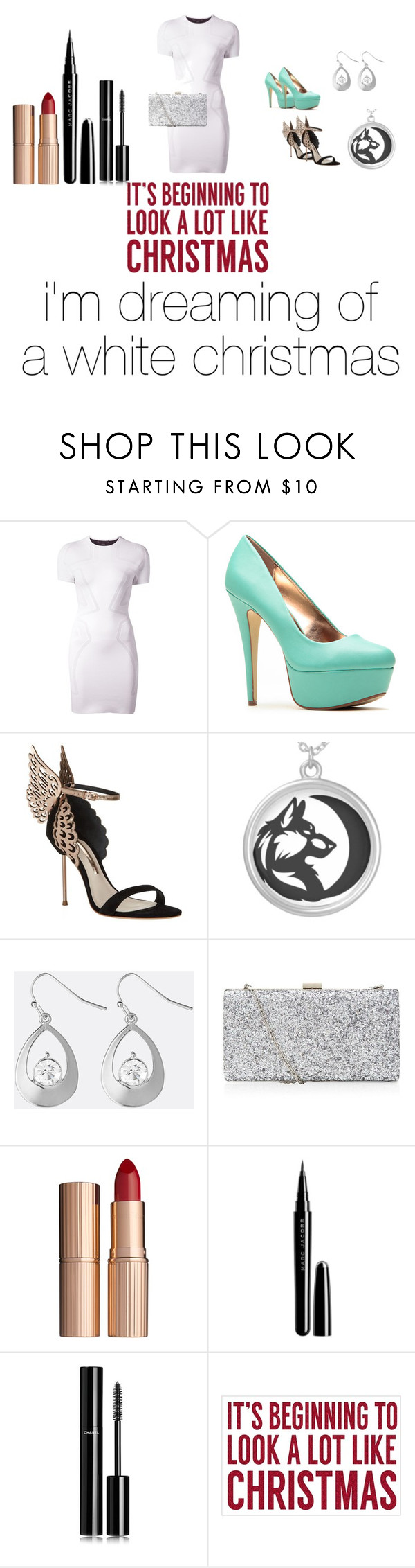 """""""Christmas"""" by alexis3henry ❤ liked on Polyvore featuring Alexander Wang, Sophia Webster, Avenue, Charlotte Tilbury, Marc Jacobs, Chanel and Sixtrees"""