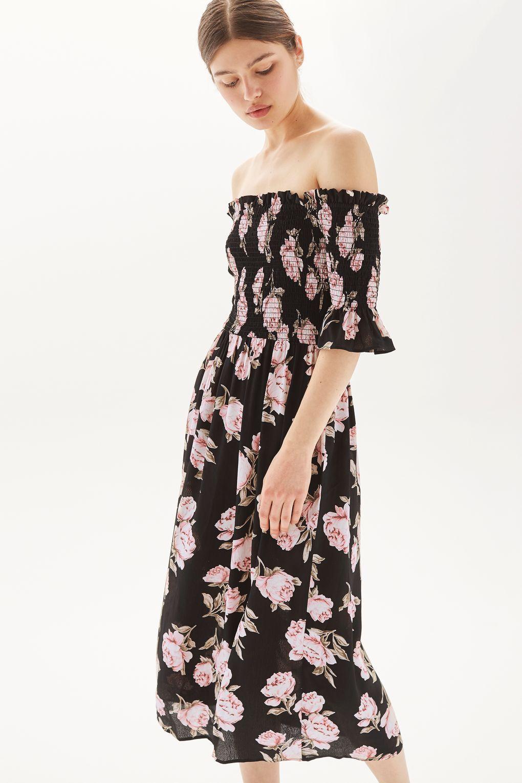 Brand New Ex Topshop Pink Bardot One Shoulder Prom Dress 6-18