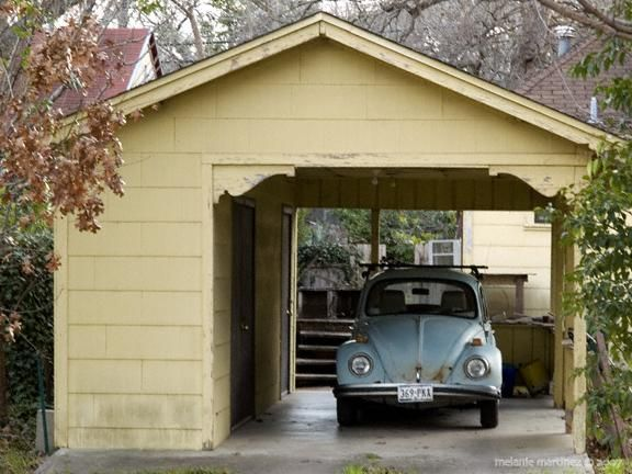 Vintage style carport with attached shed garages for Carport with storage shed attached