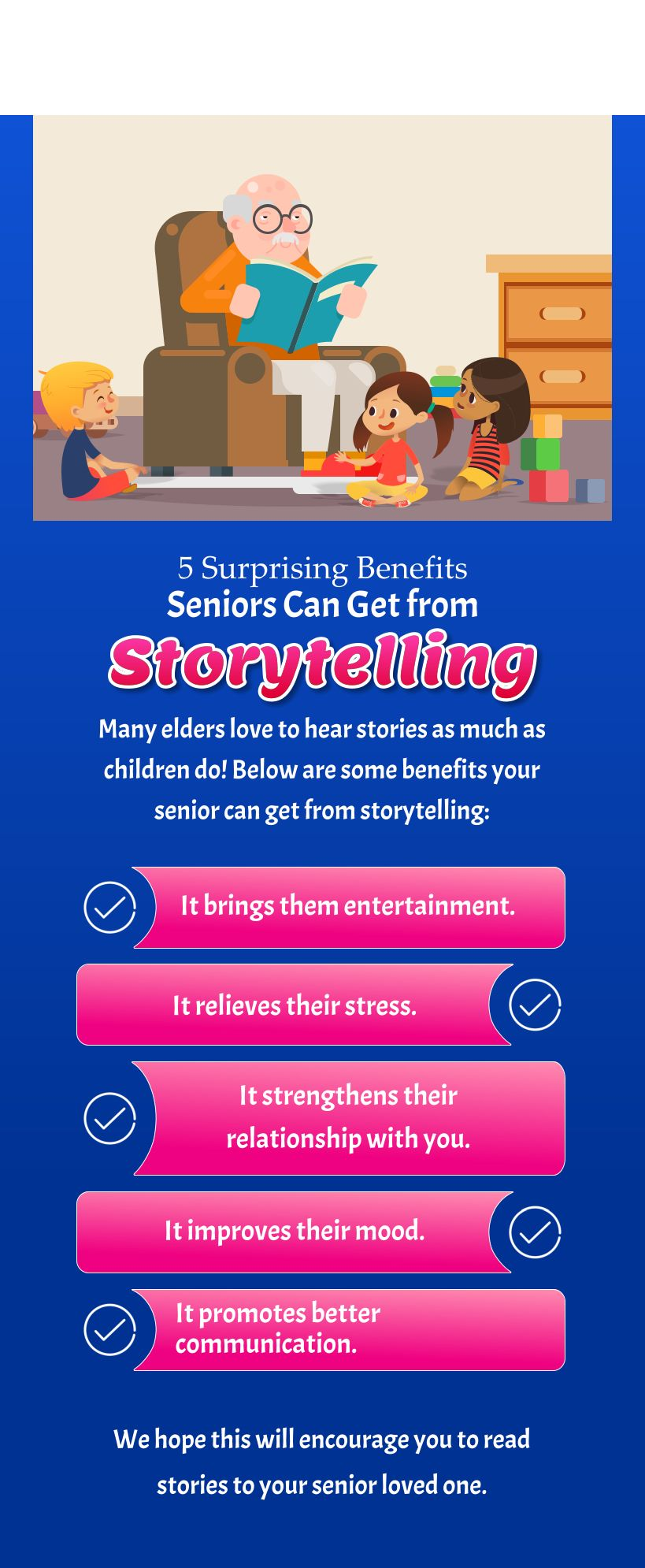 5 Surprising Benefits Seniors Can Get from Storytelling