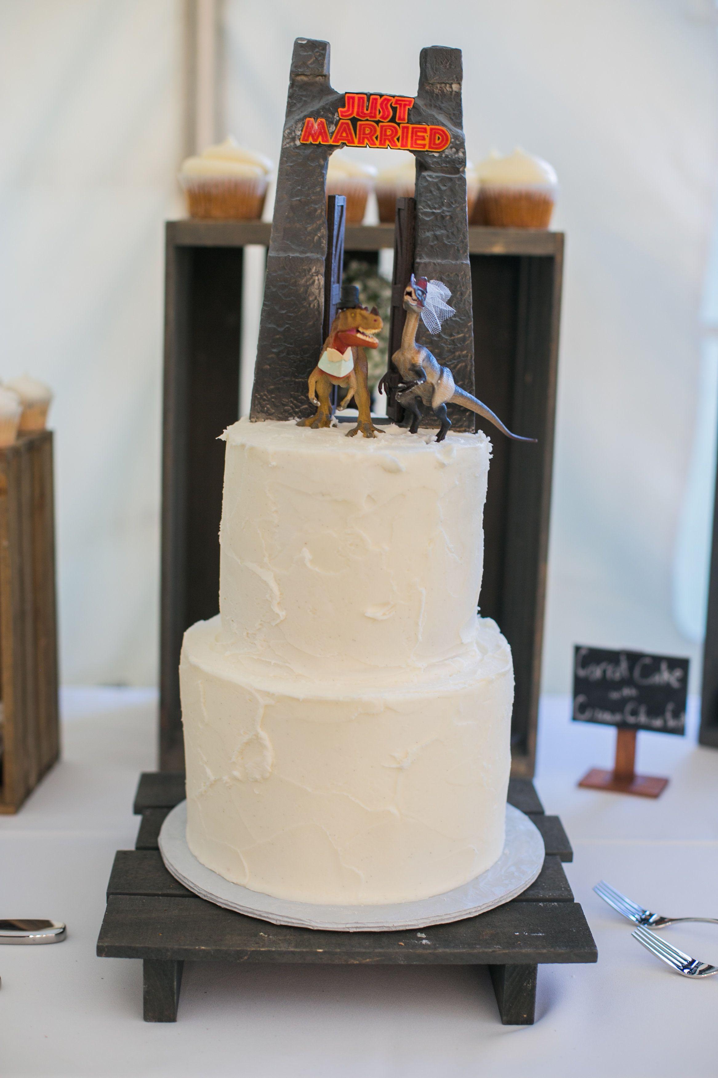 Juric Park Themed Wedding Cake