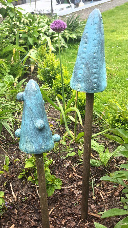 Selbst getöpferte Gartenstecker Gartenstecker, Stäbchen und Freuen - küchenmöbel selber bauen