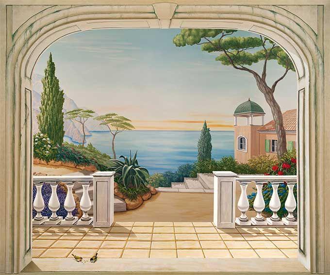Paysage Italien Jardin Murale Paysage