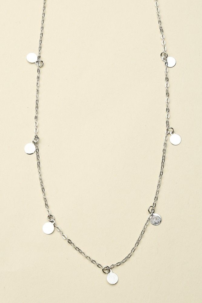 45992c381e6 Brandy ♥ Melville | Silver Dangling CIrcle Charm Necklace - Necklaces -  Jewelry - Accessories