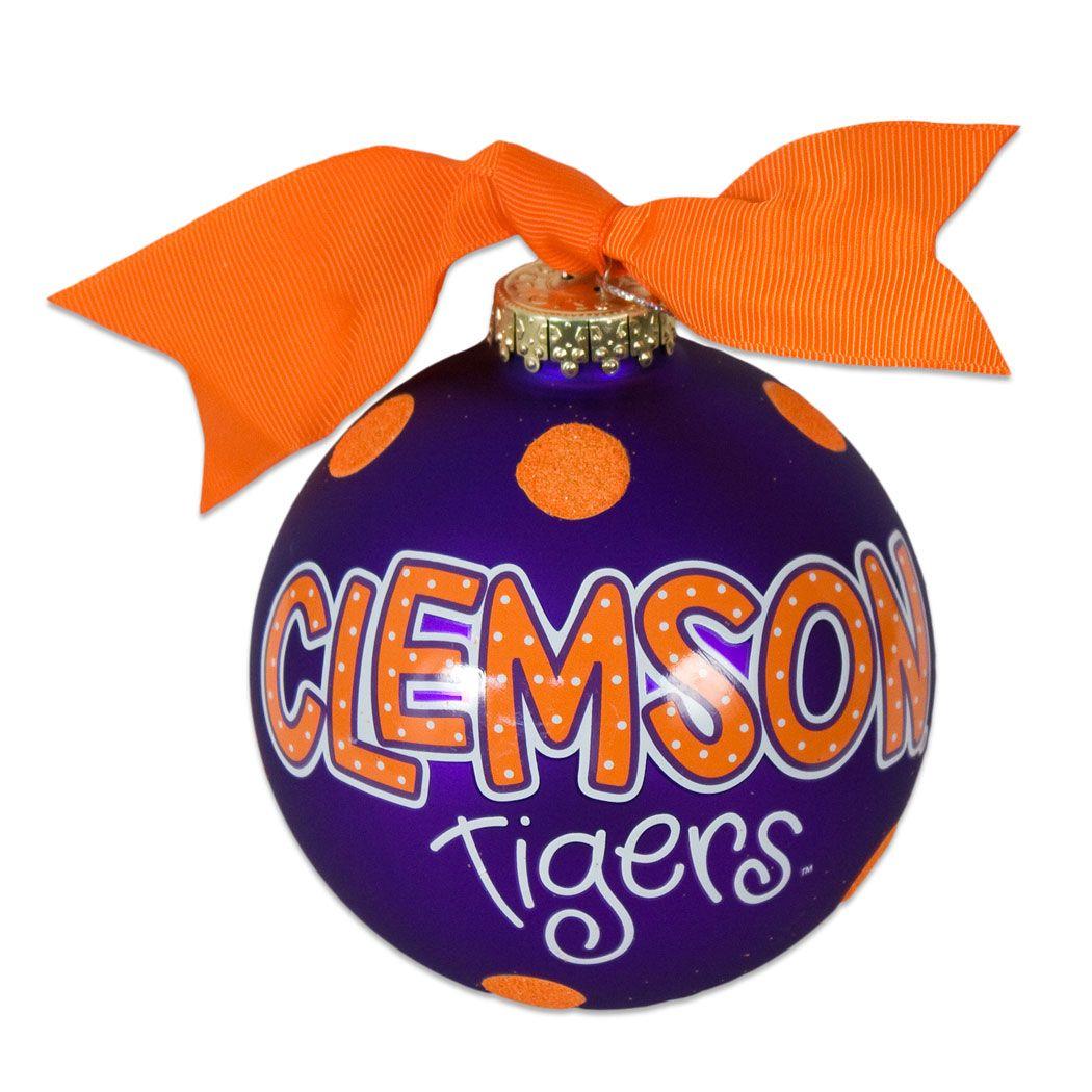 Clemson Christmas Tree: Clemson Tigers Large Dot Ornament #clemson