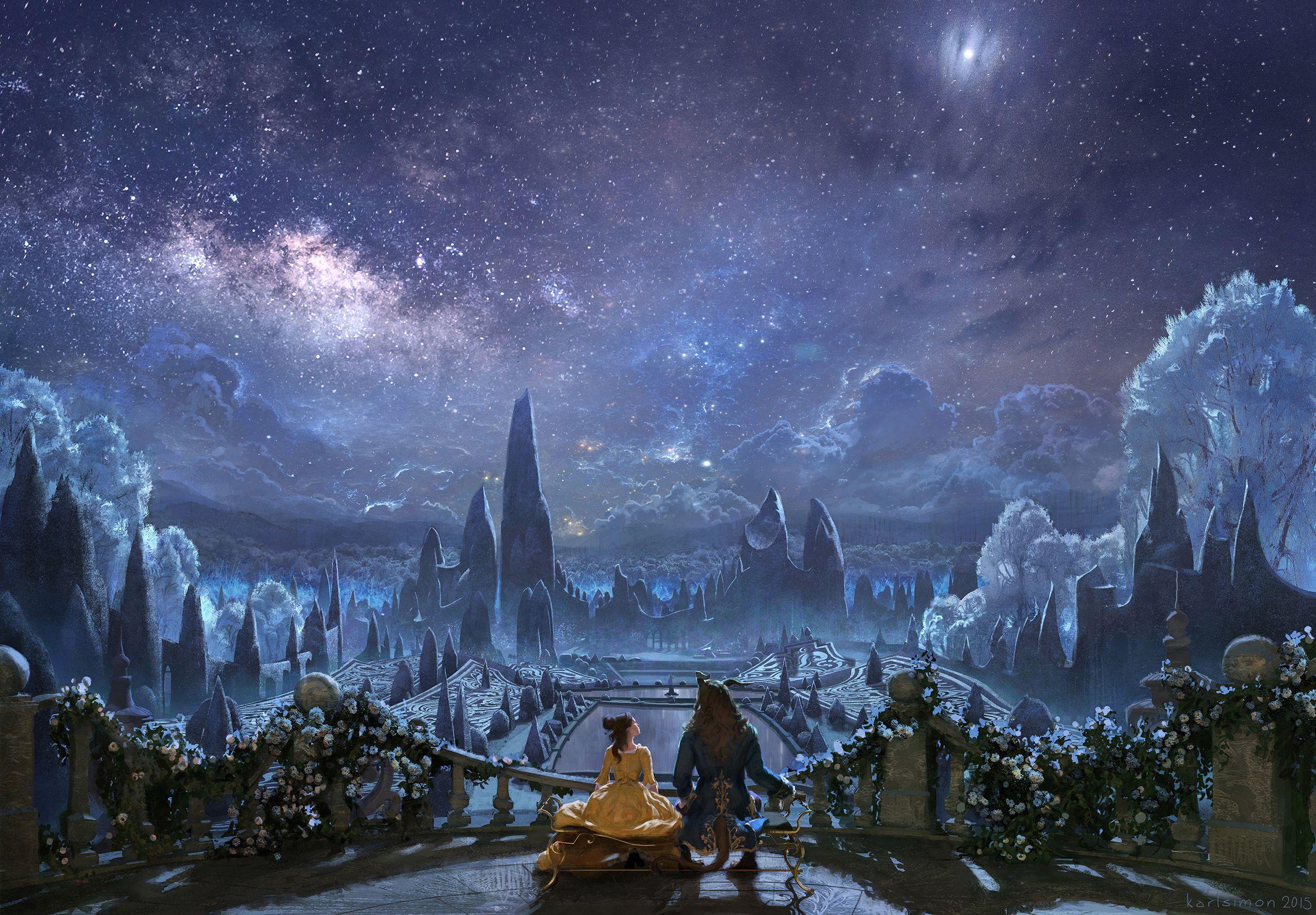 Amazing Beauty And The Beast Concept Art Disney Karlsimon Ballroom Balcony X 1739 Pixels