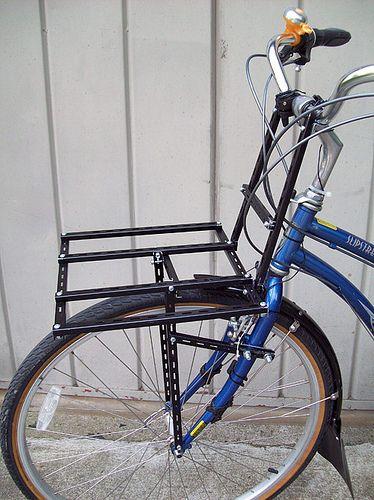 Diy Front Cargo Rack For Bike Crafting Commuter Bike