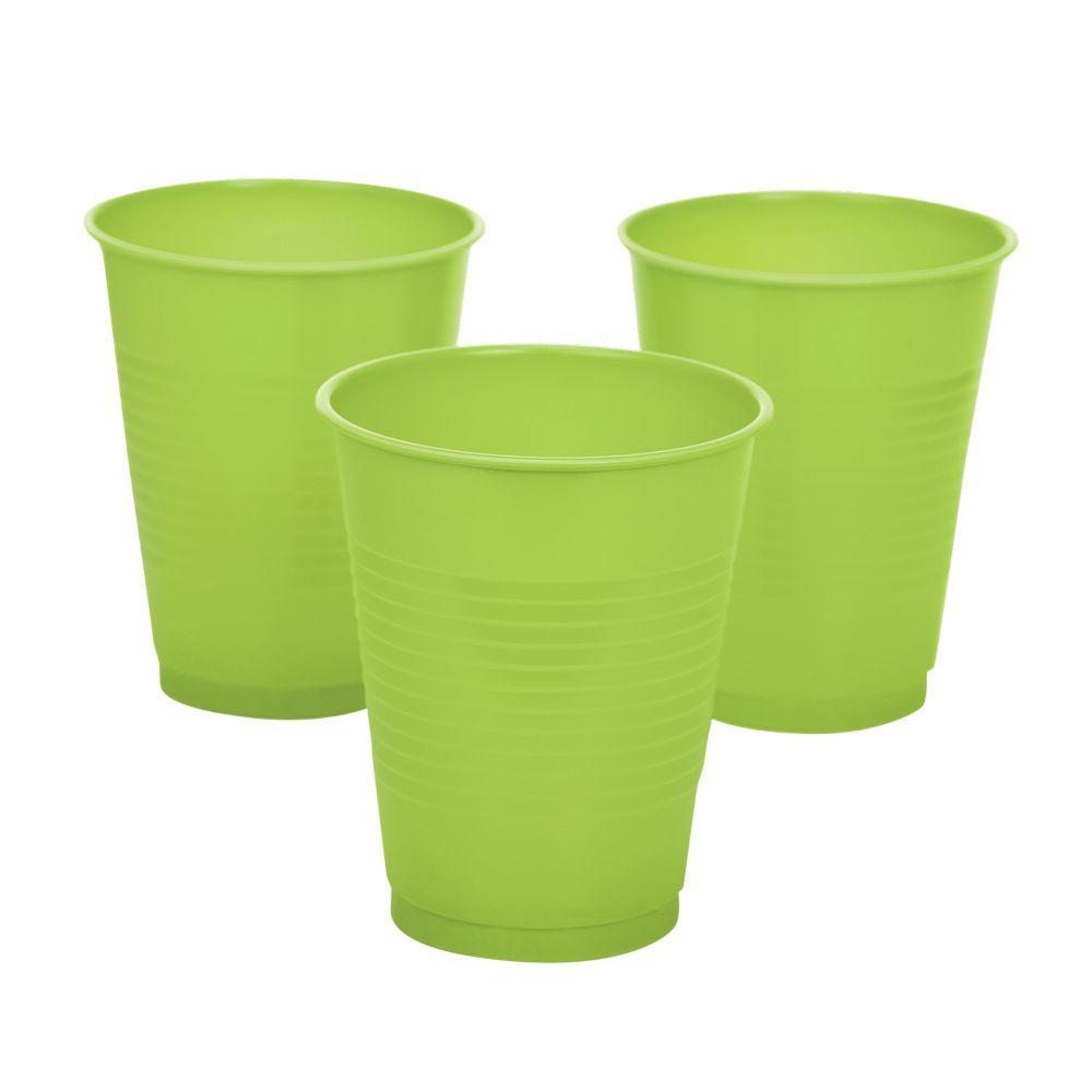 Lime Plastic Plastic Tumblers