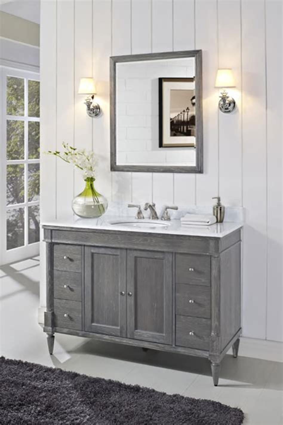 40 best farmhouse and rustic bathroom vanities ideas 2019 on vanity bathroom id=94498