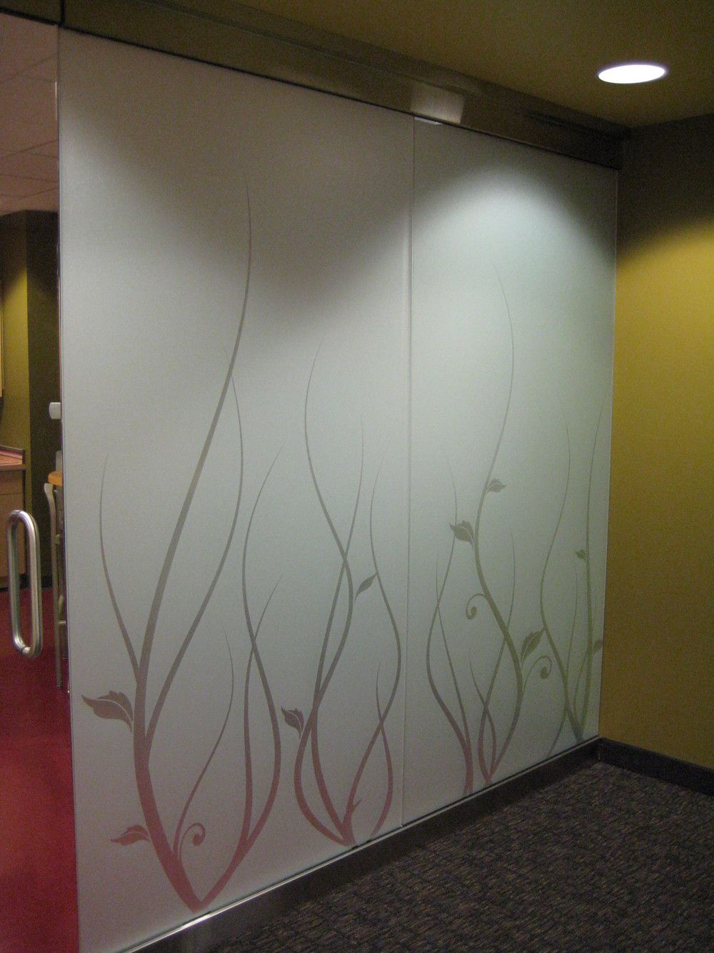 Frosted Glass is also a cool option for room/office space ...