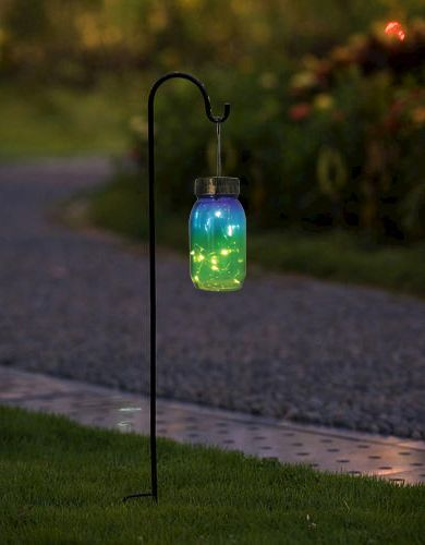 Patriot Lighting Hanging Jar Solar Led Path Light With Bronze Finish And A Grant Gl