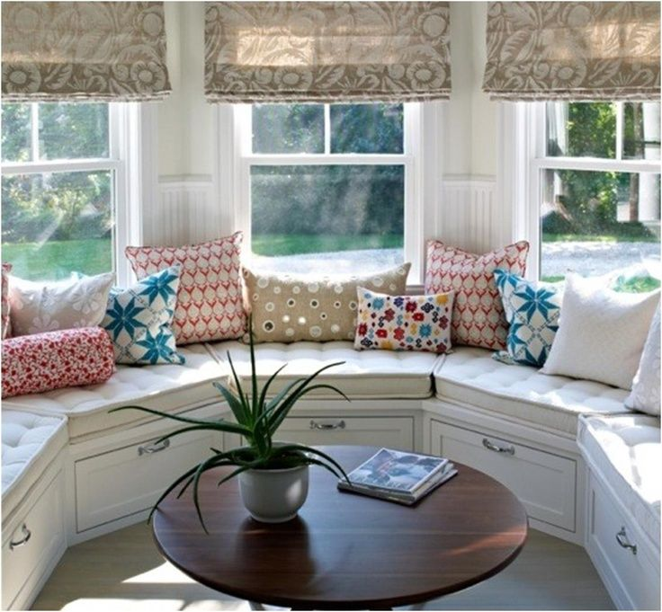 Marvelous Curved Bay Window Seat Google Search Home Interior Machost Co Dining Chair Design Ideas Machostcouk