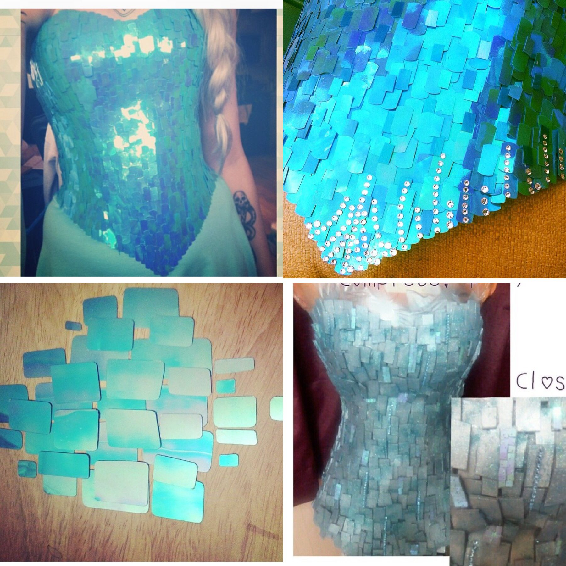 6fcd6a5282 Elsa references. Must buy the right sequins and large aqua sequins for  corset. So freaking pumpedddd if the skirt i bought fits.