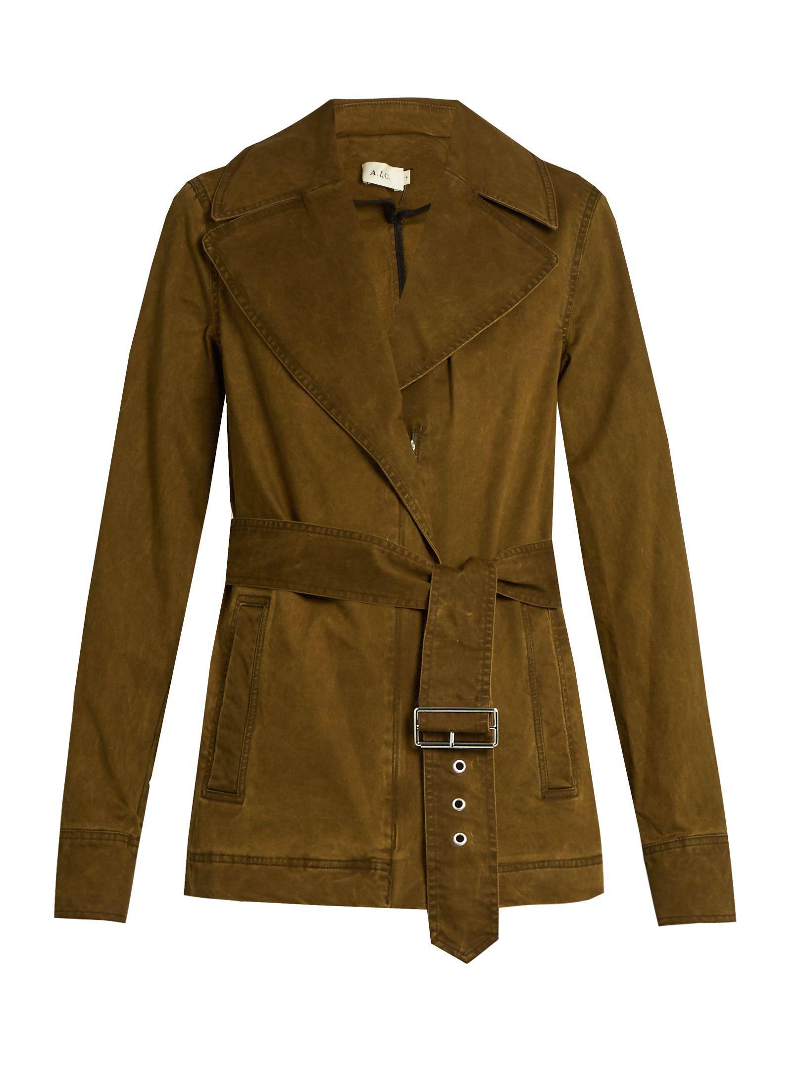 Tan gabardine coat