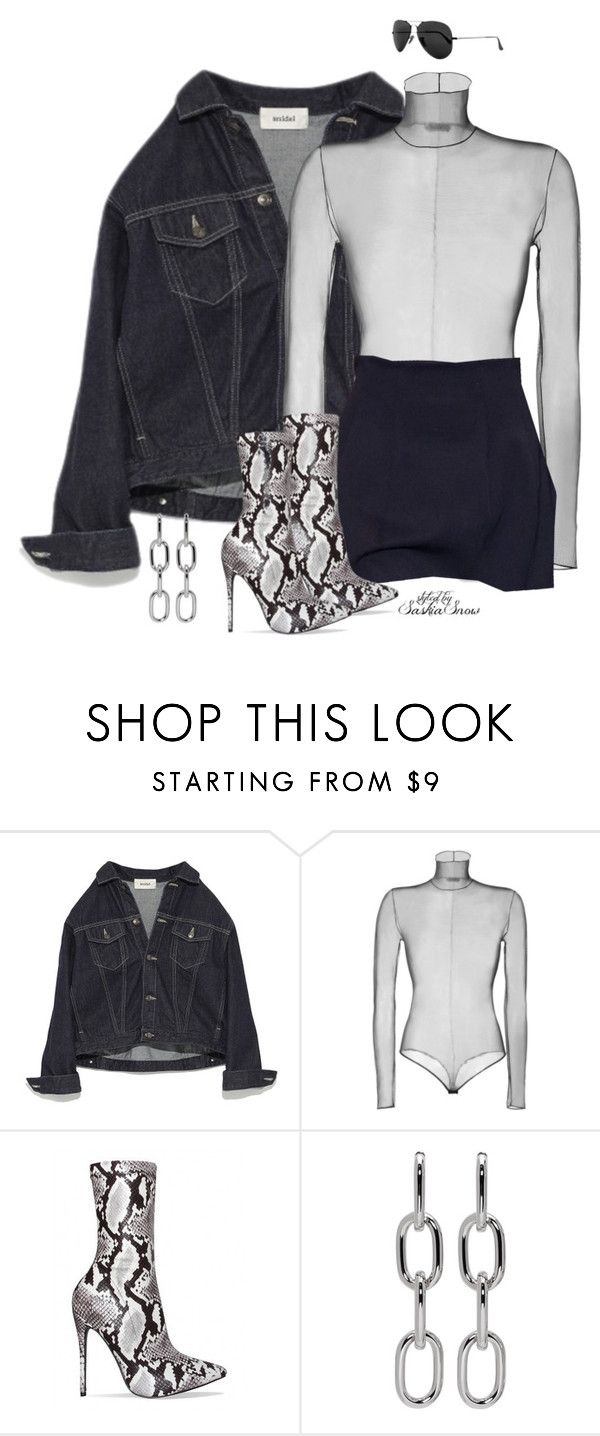 """""""Unbenannt #3320"""" by saskiasnow ❤ liked on Polyvore featuring Akris, Alexander Wang and Ray-Ban"""