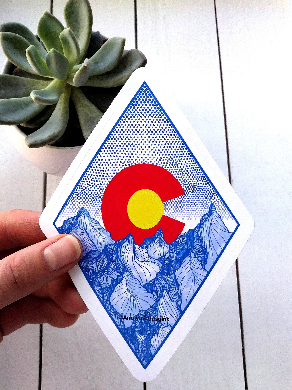 Colorado sticker colorado sticker mountain tattoo flag